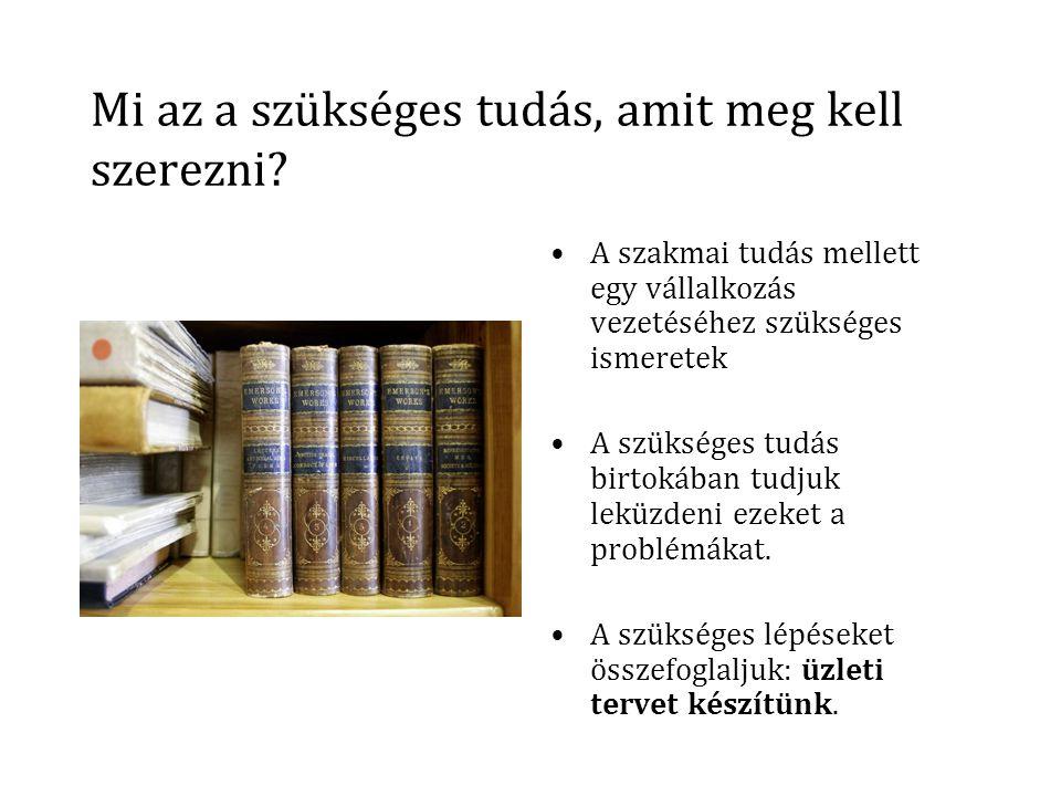 Mi az a szükséges tudás, amit meg kell szerezni.