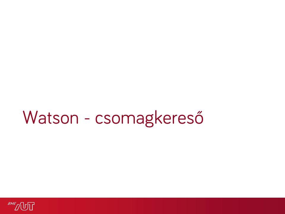 Watson - csomagkereső