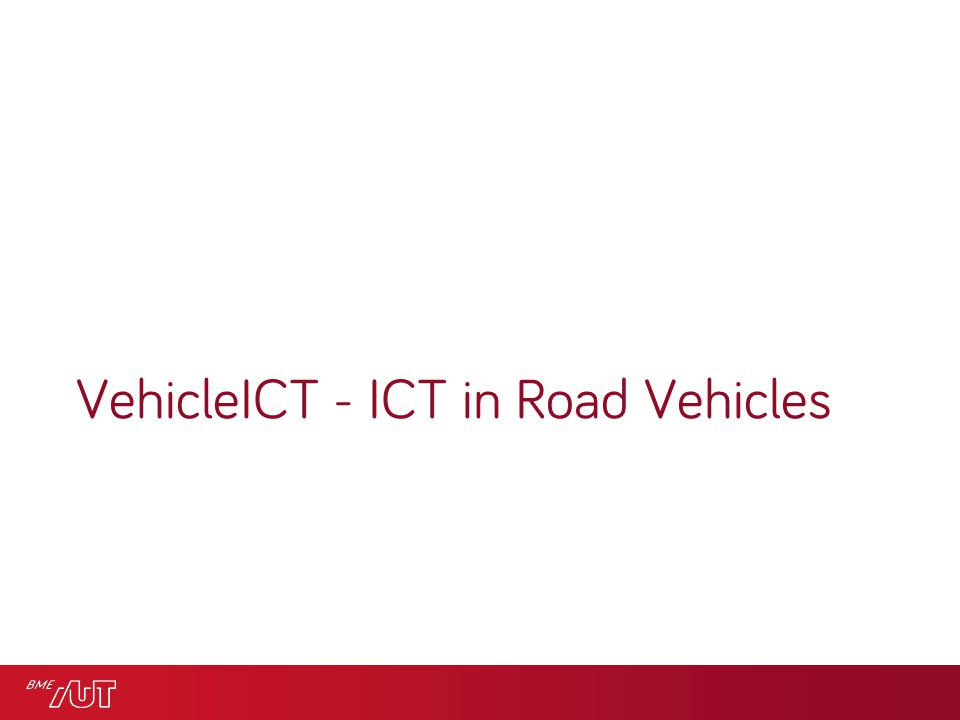 VehicleICT - ICT in Road Vehicles