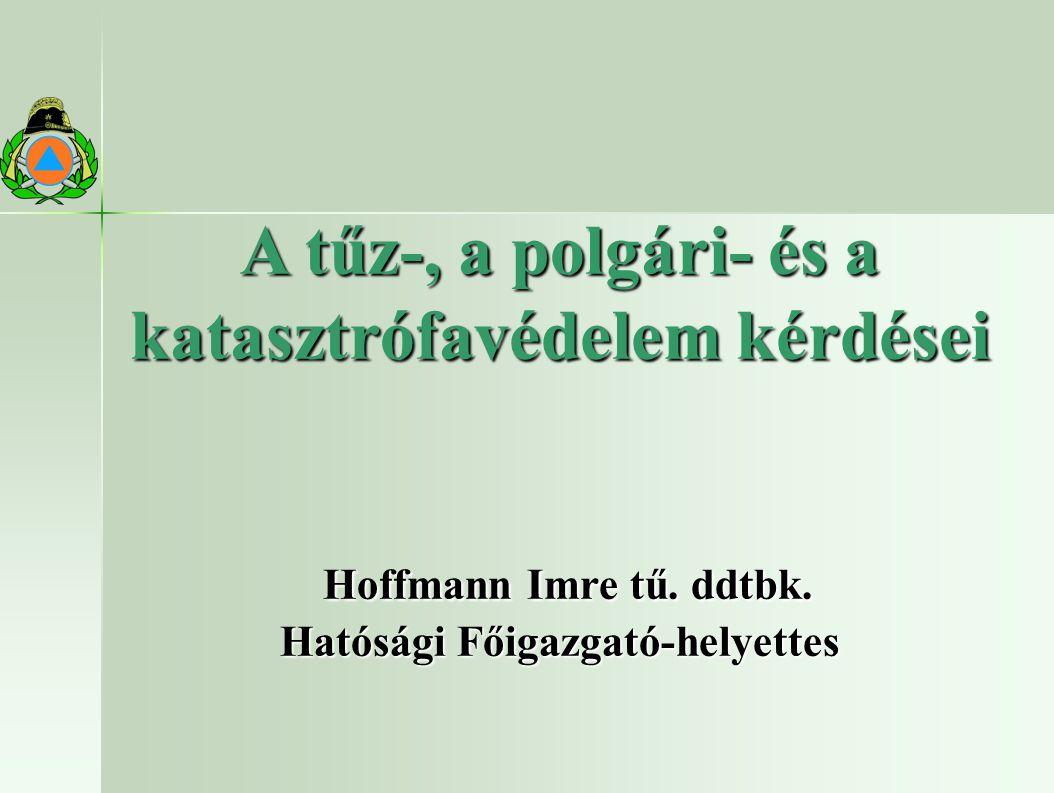 A tűz-, a polgári- és a katasztrófavédelem kérdései Hoffmann Imre tű.