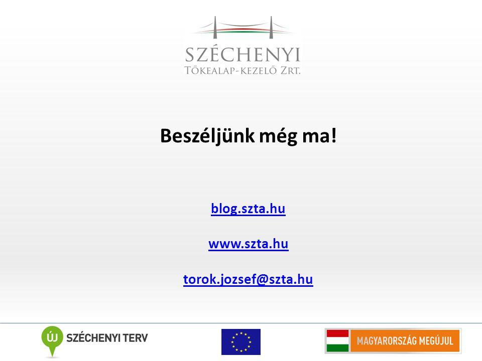 Beszéljünk még ma! blog.szta.hu www.szta.hu torok.jozsef@szta.hu