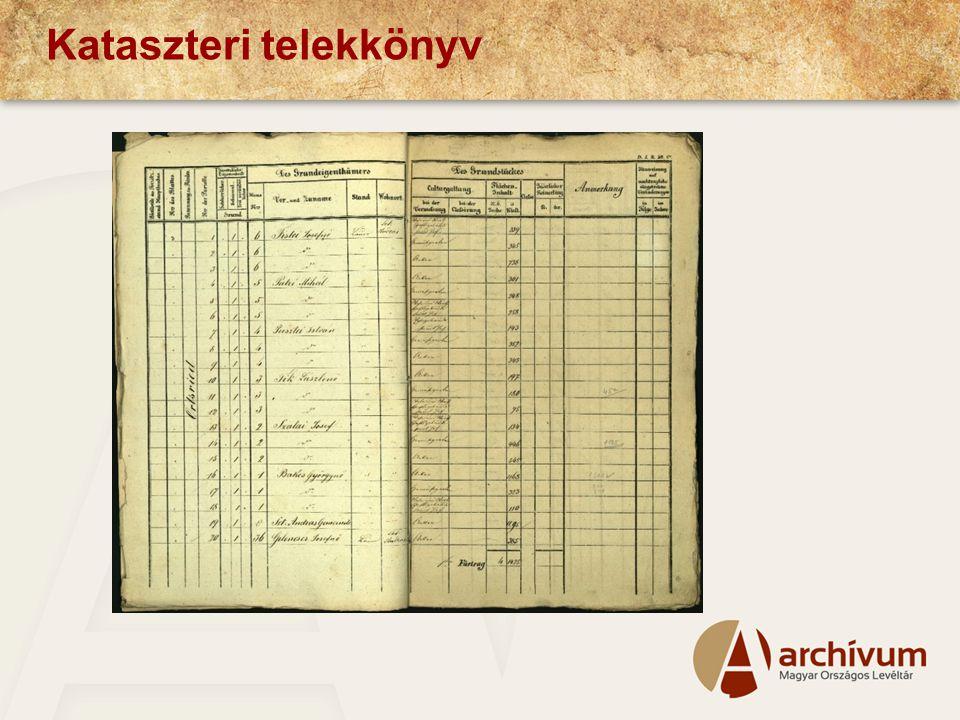 Kataszteri telekkönyv
