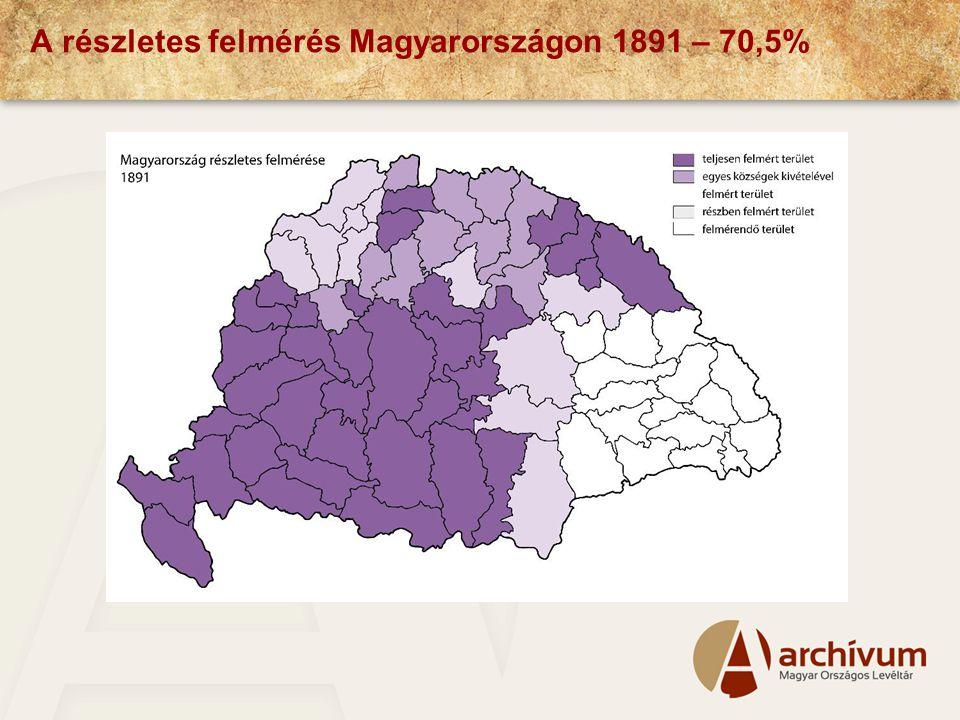 A részletes felmérés Magyarországon 1891 – 70,5%