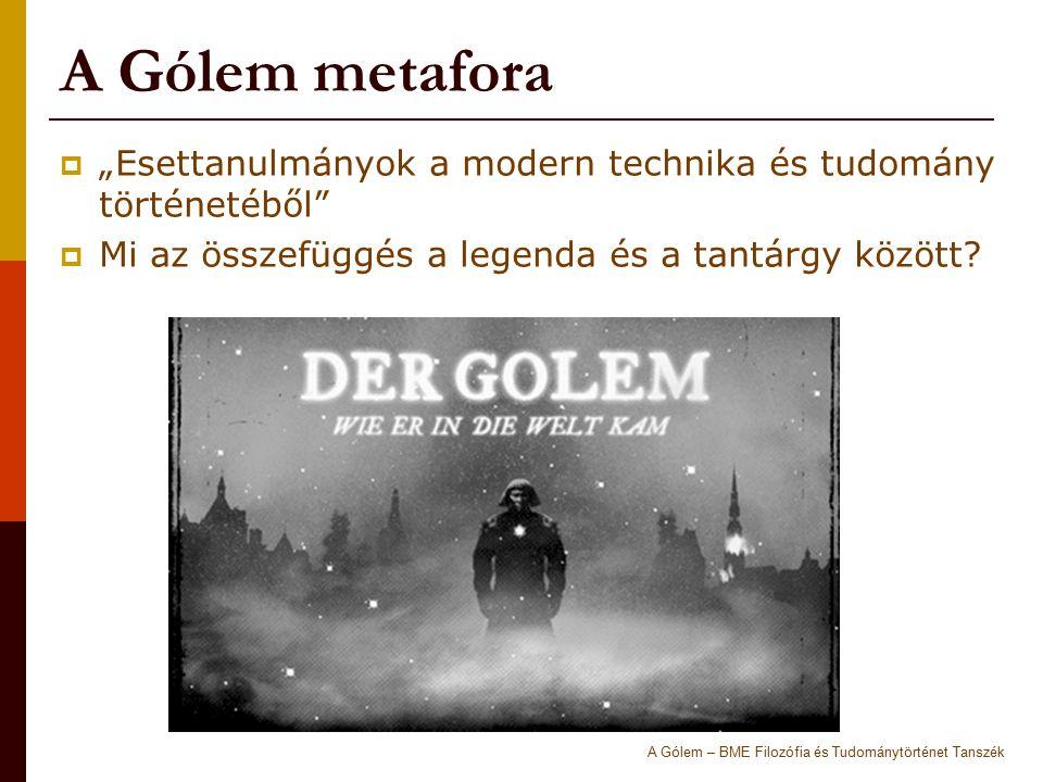 """A Gólem metafora  """"Esettanulmányok a modern technika és tudomány történetéből""""  Mi az összefüggés a legenda és a tantárgy között? A Gólem – BME Filo"""