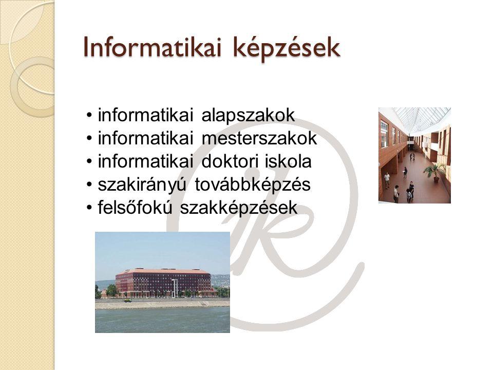 Informatikai képzések informatikai alapszakok informatikai mesterszakok informatikai doktori iskola szakirányú továbbképzés felsőfokú szakképzések