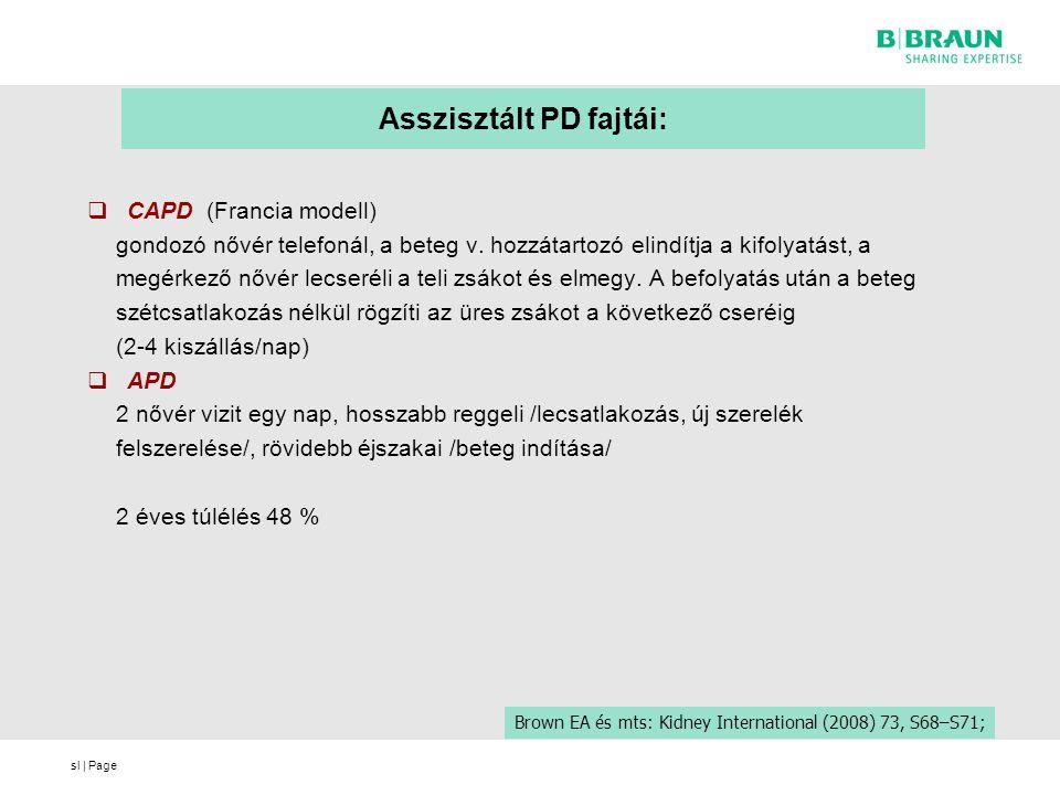 sl | Page Asszisztált PD fajtái:  CAPD (Francia modell) gondozó nővér telefonál, a beteg v. hozzátartozó elindítja a kifolyatást, a megérkező nővér l