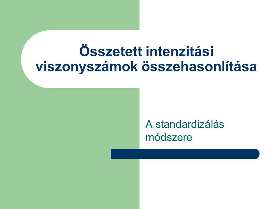 Összetett intenzitási viszonyszámok összehasonlítása A standardizálás módszere