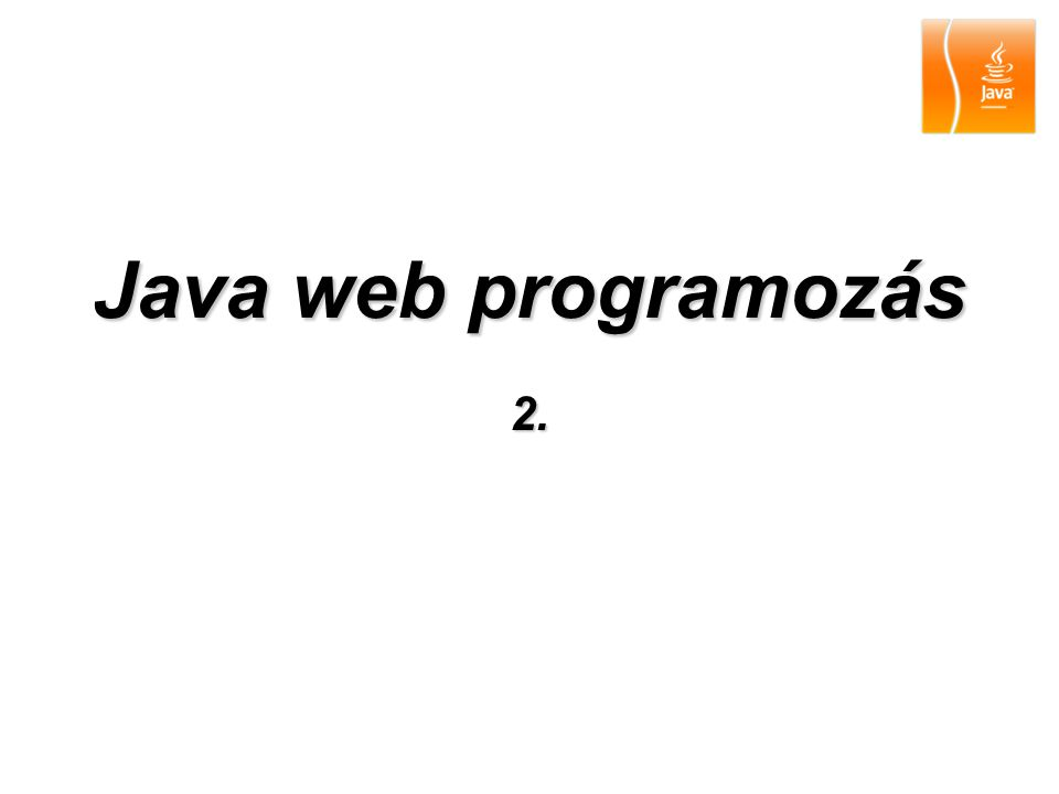 Java web programozás 2.