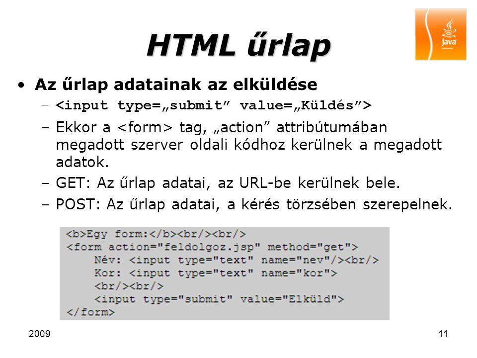 """200911 HTML űrlap Az űrlap adatainak az elküldése – –Ekkor a tag, """"action"""" attribútumában megadott szerver oldali kódhoz kerülnek a megadott adatok. –"""