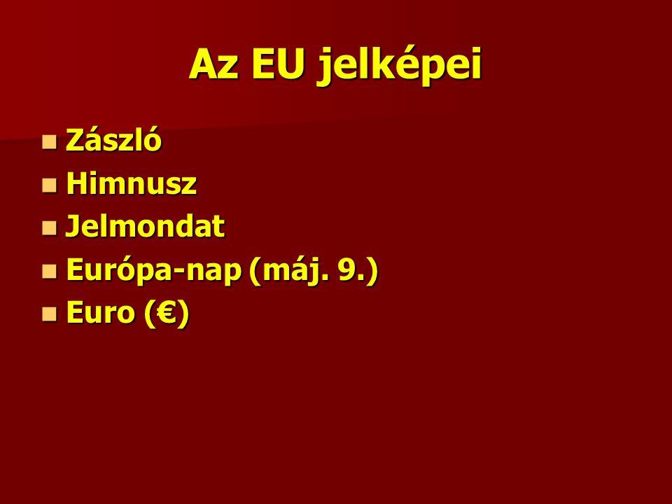 Az EU jelképei Zászló Zászló Himnusz Himnusz Jelmondat Jelmondat Európa-nap (máj.