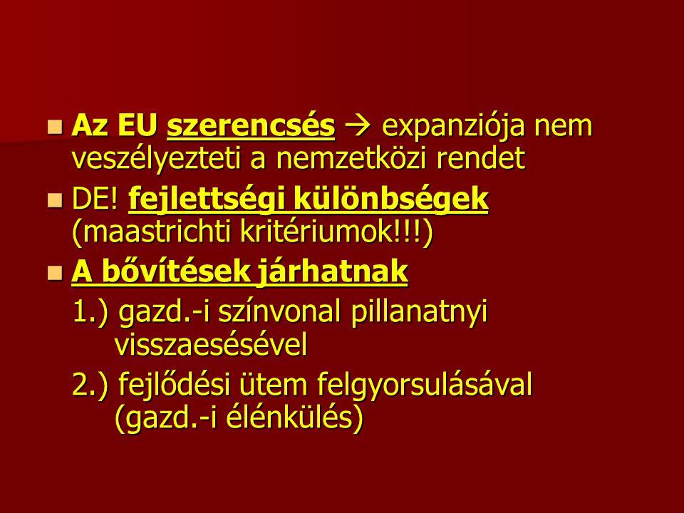 Az EU szerencsés  expanziója nem veszélyezteti a nemzetközi rendet Az EU szerencsés  expanziója nem veszélyezteti a nemzetközi rendet DE.