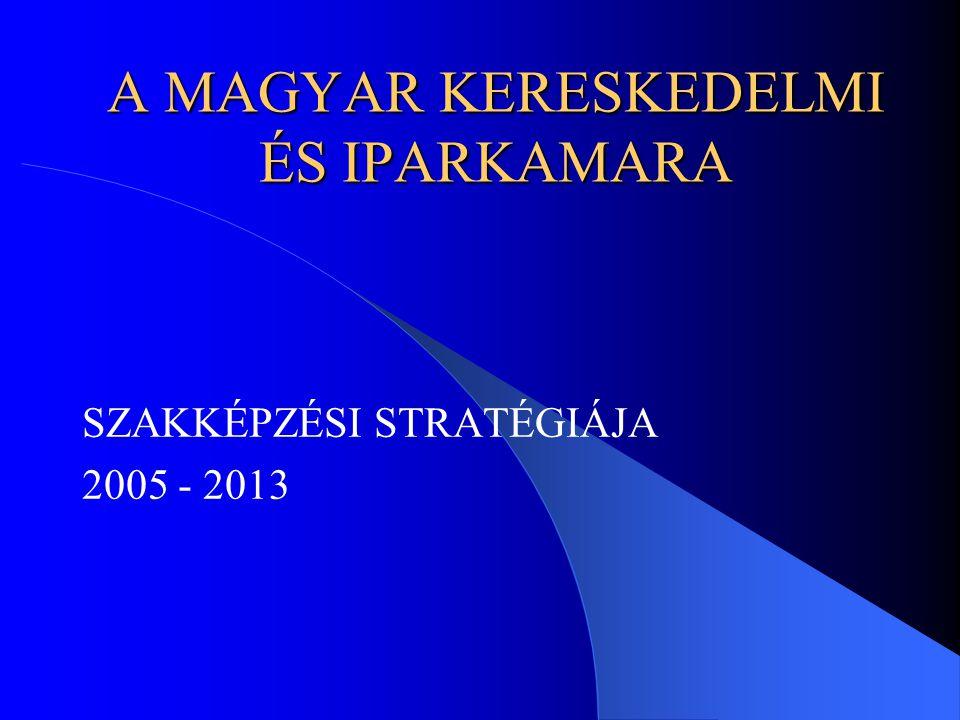 A MAGYAR KERESKEDELMI ÉS IPARKAMARA SZAKKÉPZÉSI STRATÉGIÁJA 2005 - 2013