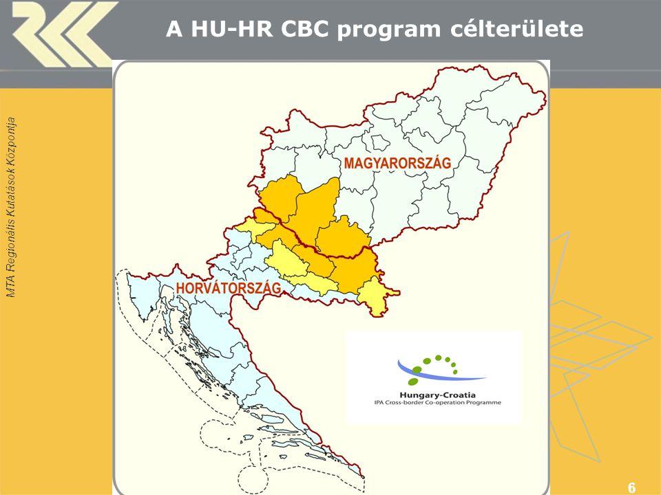 MTA Regionális Kutatások Központja A HU-HR CBC program célterülete 6