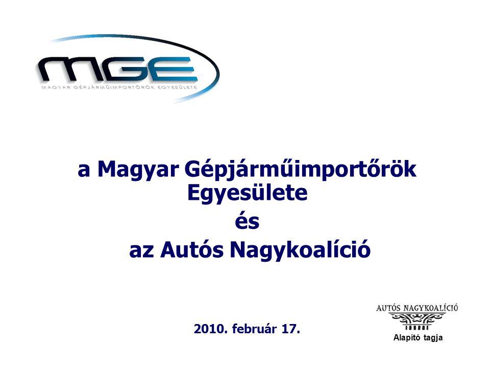 a Magyar Gépjárműimportőrök Egyesülete és az Autós Nagykoalíció 2010. február 17. Alapító tagja