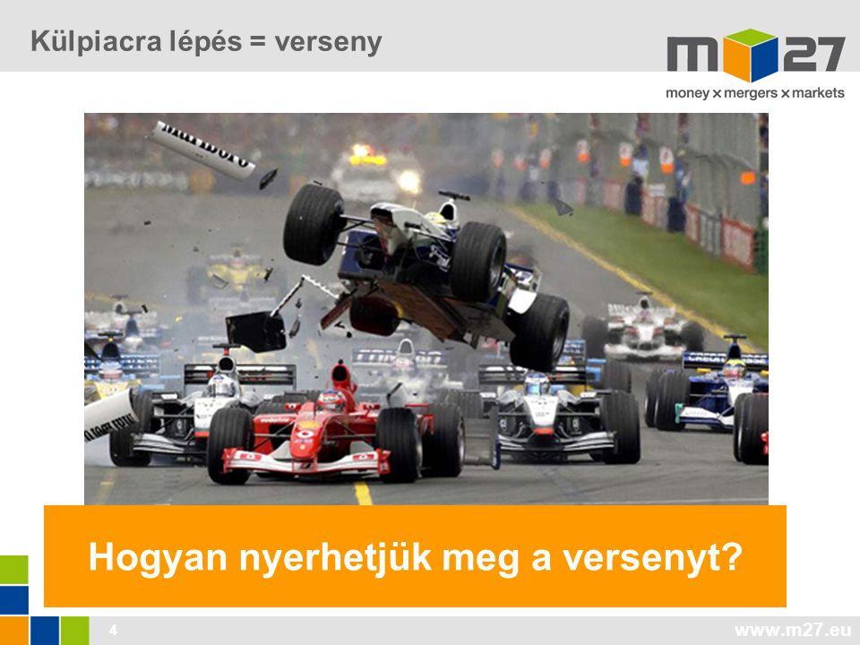 www.m27.eu 4 Külpiacra lépés = verseny Hogyan nyerhetjük meg a versenyt?