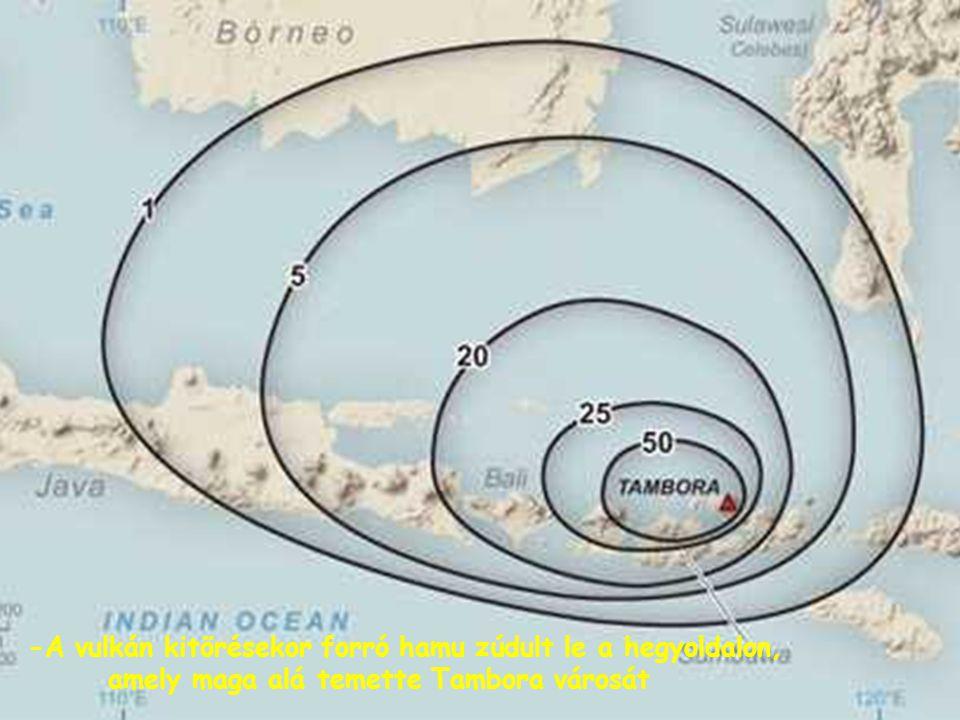 A Sumbawa szigetén magasodó Tambora a Tűzgyűrű indonéz szakaszán található 129 működő vulkán egyike