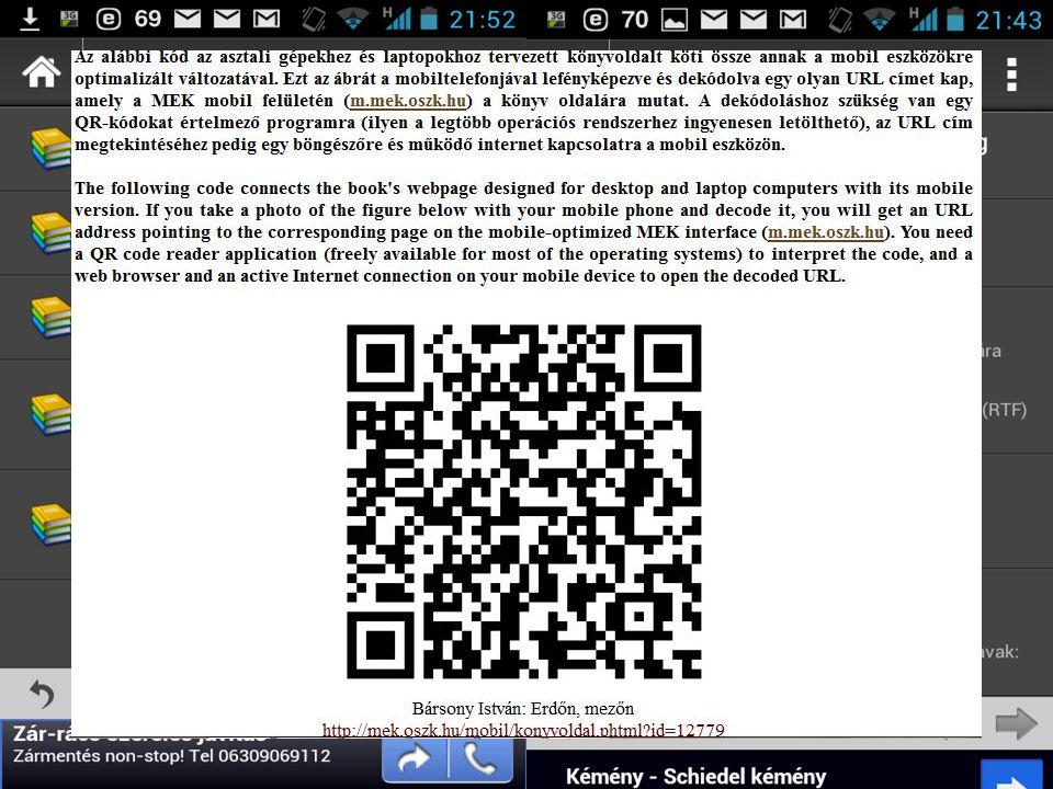 """BIBLIOTHECA NATIONALIS HUNGARIAE 8 Fejlesztések – Mobil technológia """"Kindle-re küldés gomb a borítón – Az """"Amazon Kindle Personal Documents Service felhasználásával a karakteres e-könyvek küldése, konvertálása Kindle készülékekre OPDS szerver OPDS – Az Open Publication Distribution System (OPDS) segítségével szabványos katalógusrekordok alakíthatók ki és RSS-szerű csatornákon terjeszthetők az e-könyvek adatai."""