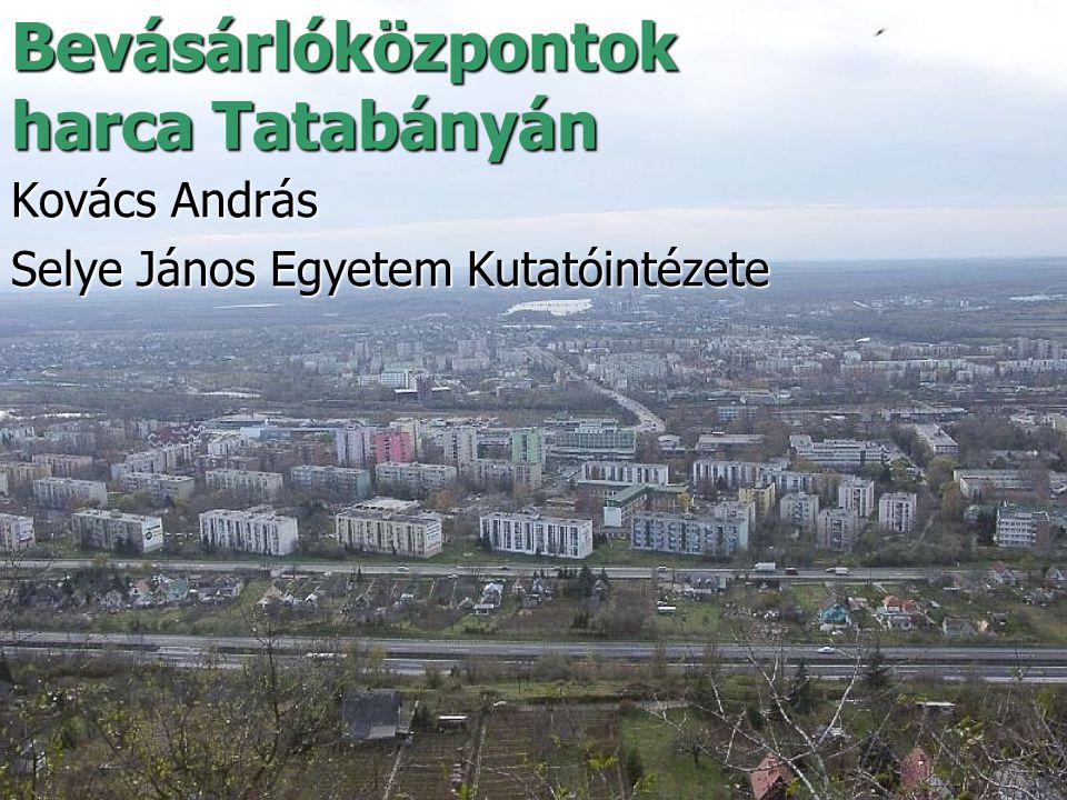 Bevásárlóközpontok harca Tatabányán Kovács András Selye János Egyetem Kutatóintézete