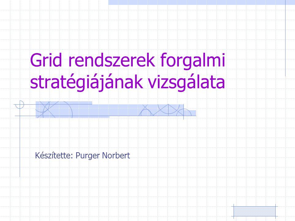 Grid rendszerek forgalmi stratégiájának vizsgálata Készítette: Purger Norbert