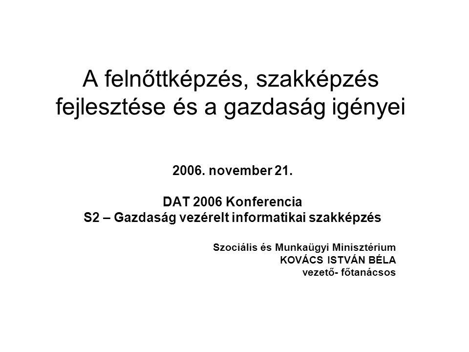 A felnőttképzés, szakképzés fejlesztése és a gazdaság igényei 2006.