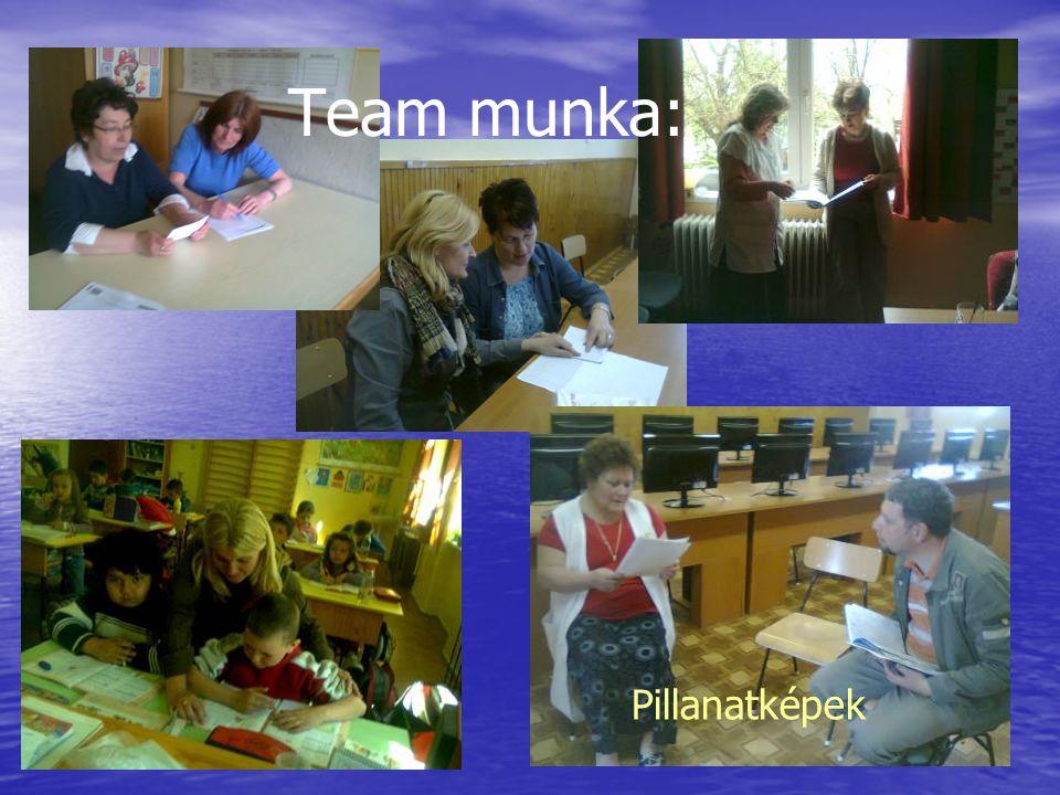 Team munka: Pillanatképek