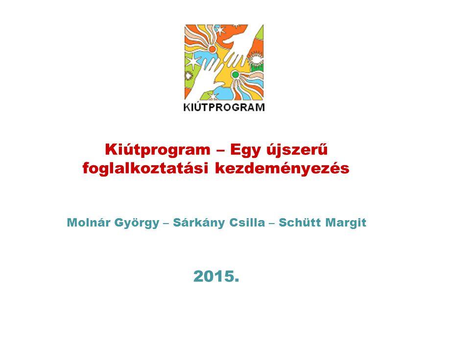 Kiútprogram – Egy újszerű foglalkoztatási kezdeményezés Molnár György – Sárkány Csilla – Schütt Margit 2015.