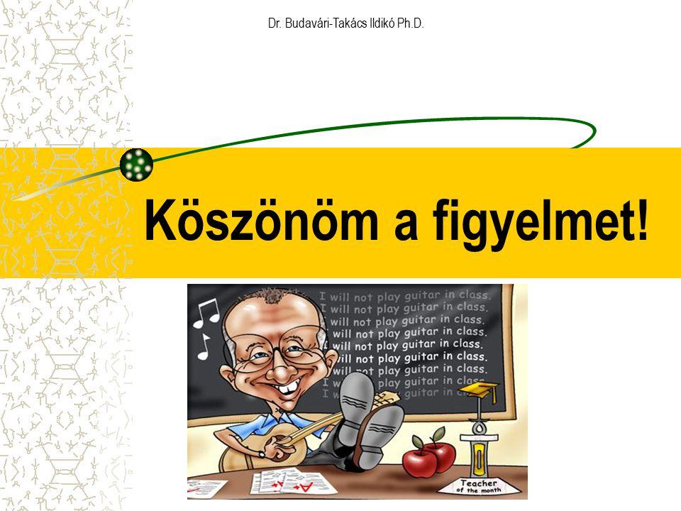 Köszönöm a figyelmet! Dr. Budavári-Takács Ildikó Ph.D.