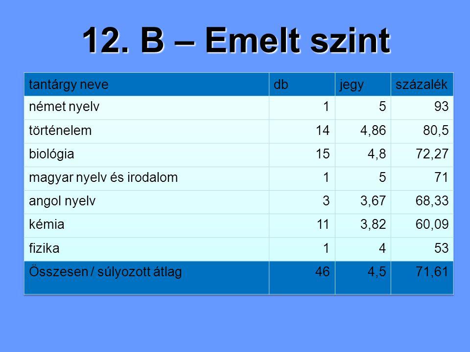 12. B – Emelt szint