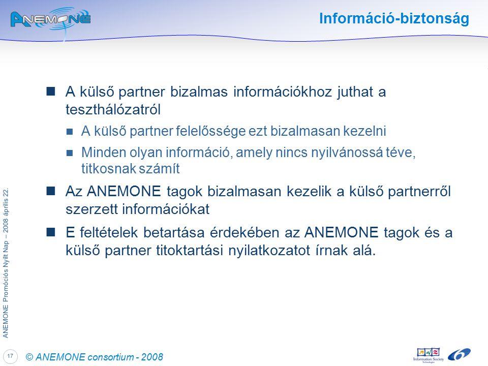 17 ANEMONE Promóciós Nyílt Nap – 2008 április 22.