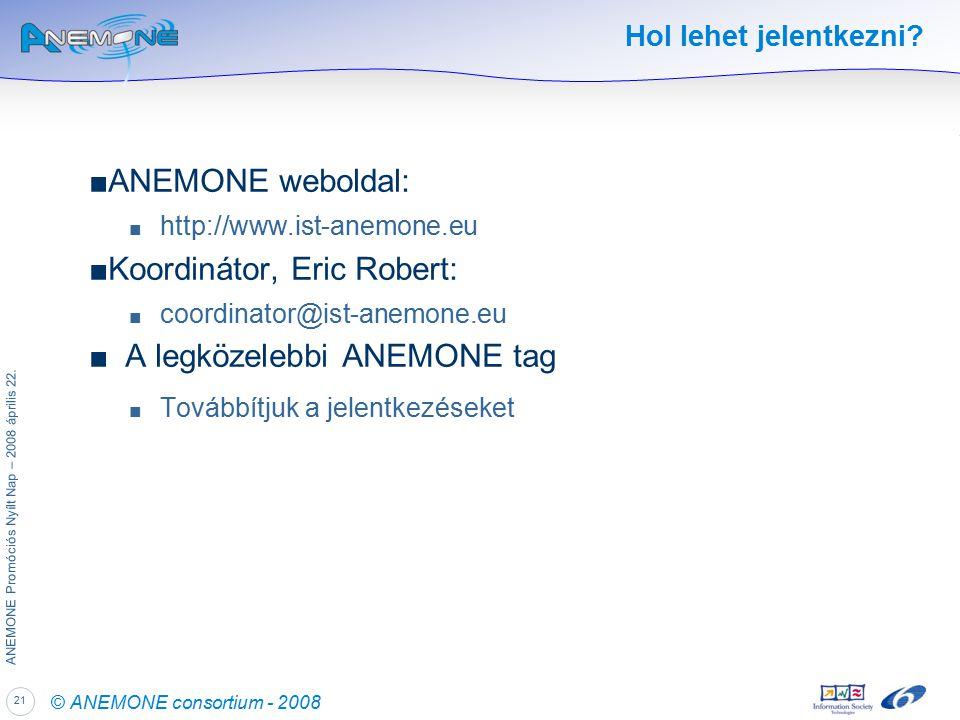 21 ANEMONE Promóciós Nyílt Nap – 2008 április 22.