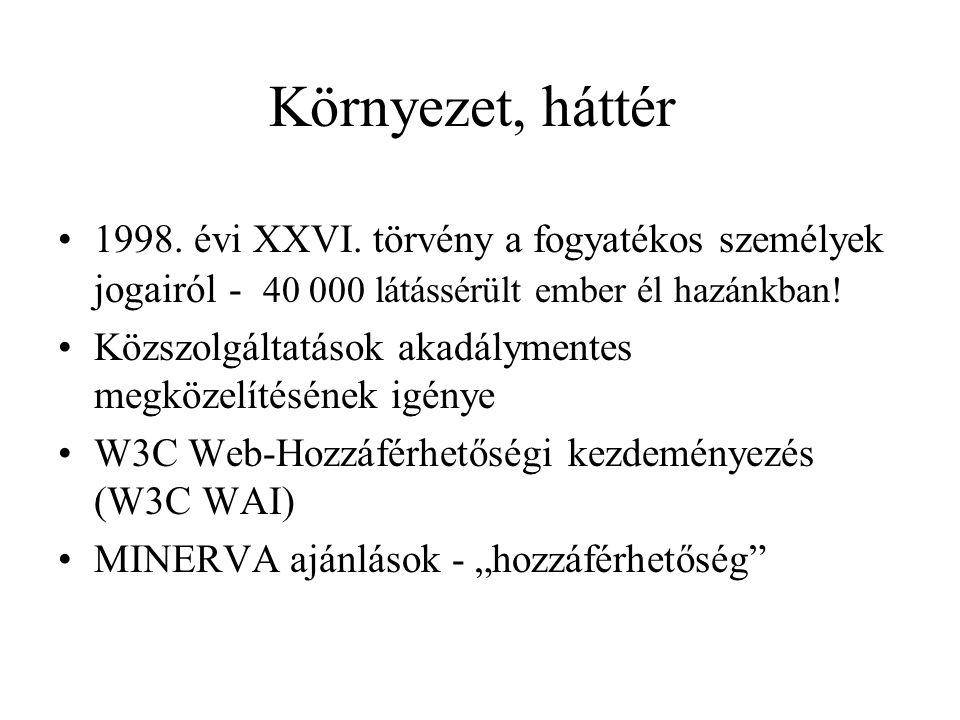 Környezet, háttér 1998. évi XXVI.