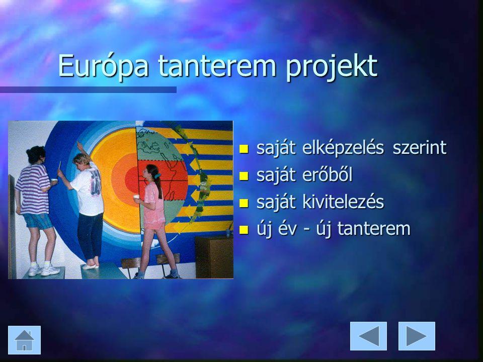 Európa tanterem projekt n saját elképzelés szerint n saját erőből n saját kivitelezés n új év - új tanterem