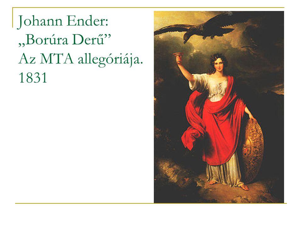 """Johann Ender: """"Borúra Derű"""" Az MTA allegóriája. 1831"""