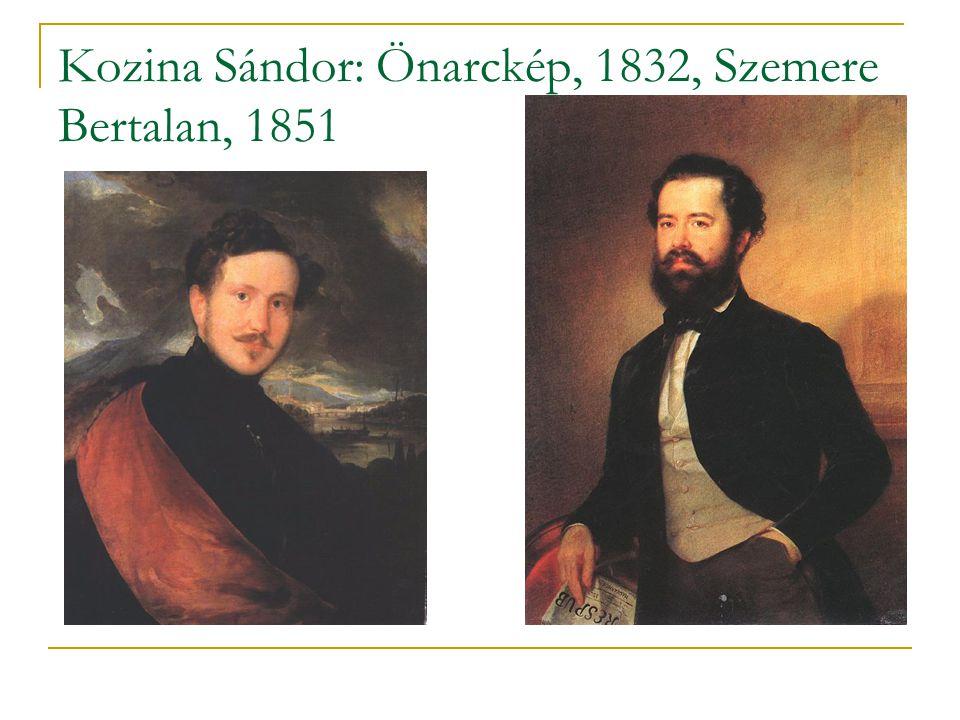 Kozina Sándor: Önarckép, 1832, Szemere Bertalan, 1851