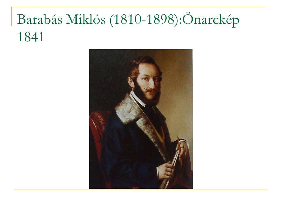 Barabás Miklós (1810-1898):Önarckép 1841
