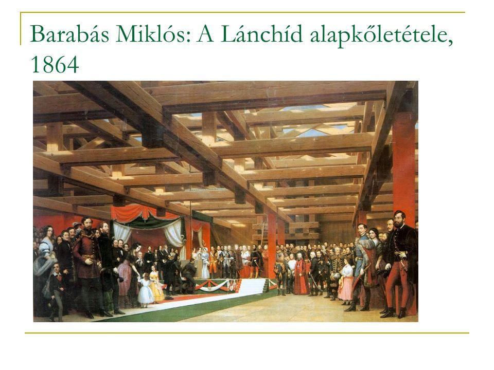 Barabás Miklós: A Lánchíd alapkőletétele, 1864