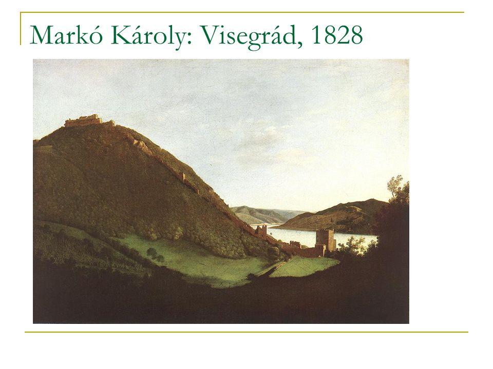Markó Károly: Visegrád, 1828
