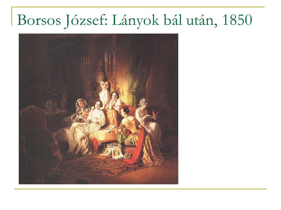 Borsos József: Lányok bál után, 1850
