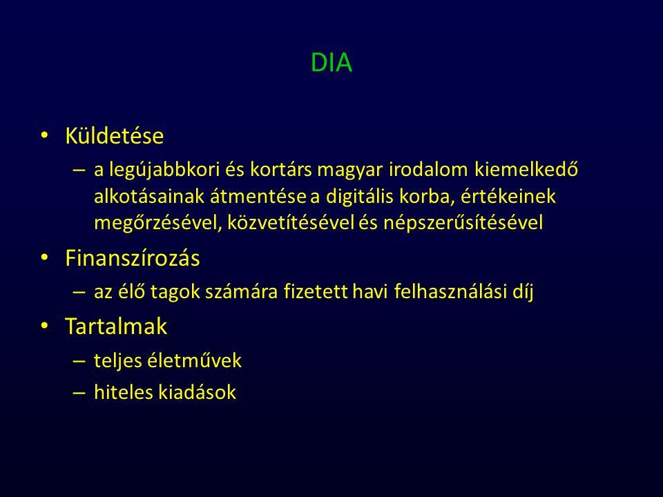 DIA Küldetése – a legújabbkori és kortárs magyar irodalom kiemelkedő alkotásainak átmentése a digitális korba, értékeinek megőrzésével, közvetítésével