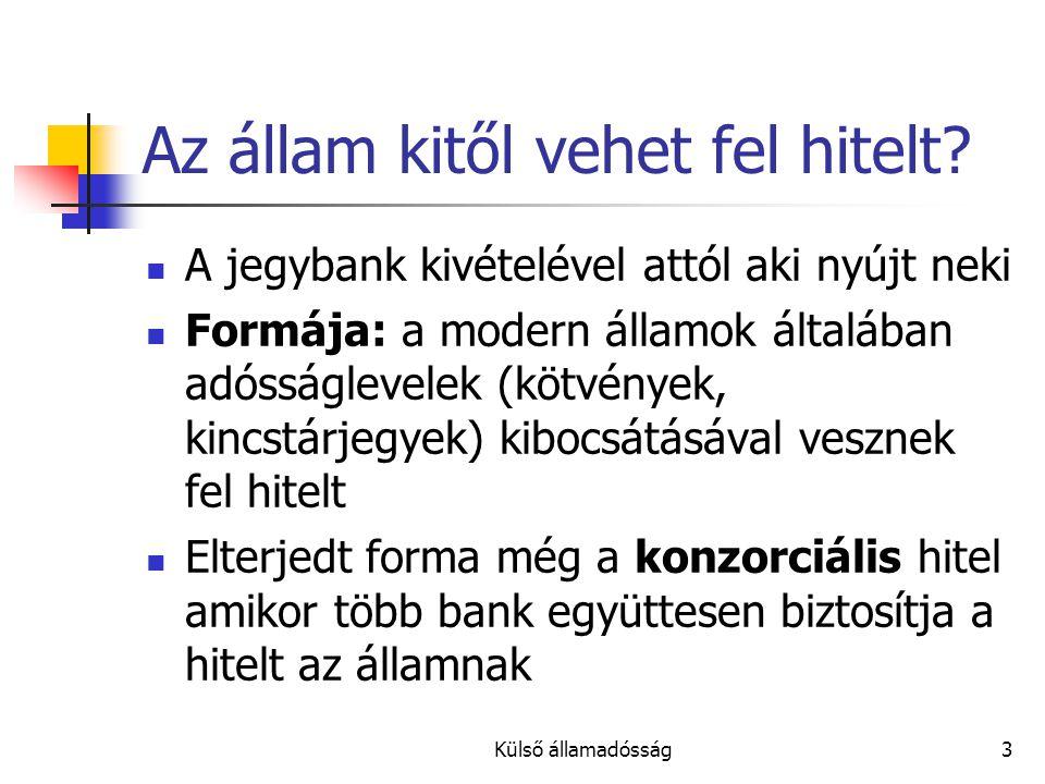 Külső államadósság4 Ki és hogyan kezeli az államadósságot.