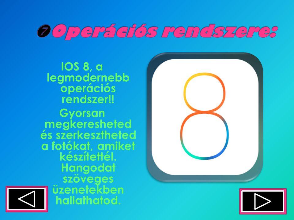 IOS 8, a legmodernebb operációs rendszer!.