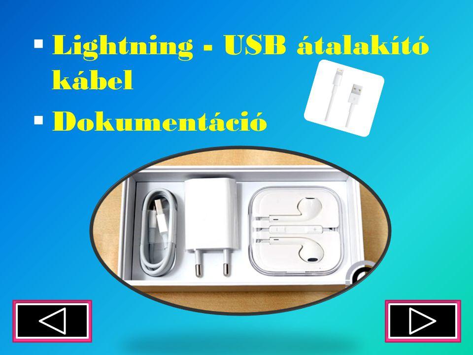 LLightning - USB átalakító kábel DDokumentáció