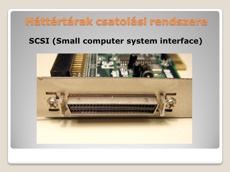 Háttértárak csatolási rendszere SCSI (Small computer system interface)