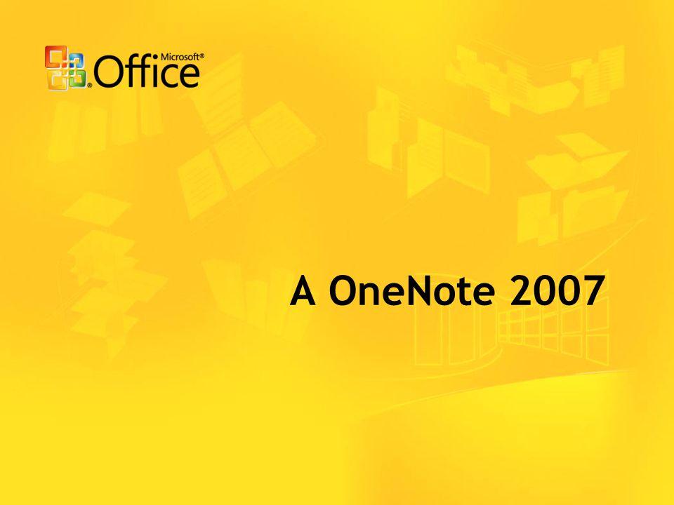 A OneNote 2007