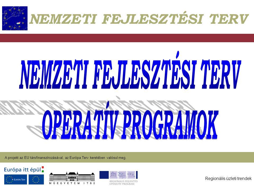 Regionális üzleti trendek A projekt az EU társfinanszírozásával, az Európa Terv keretében valósul meg. 2004. január 27. NEMZETI FEJLESZTÉSI TERV