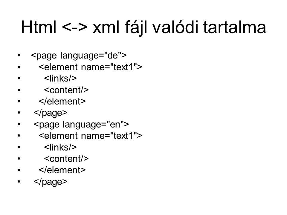Html xml fájl valódi tartalma