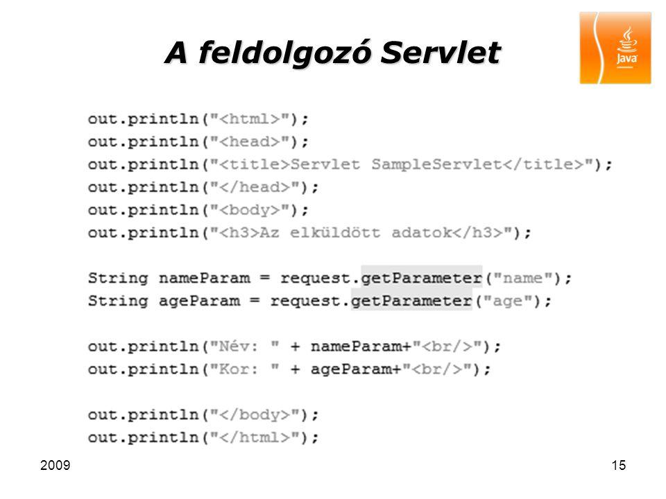 200915 A feldolgozó Servlet