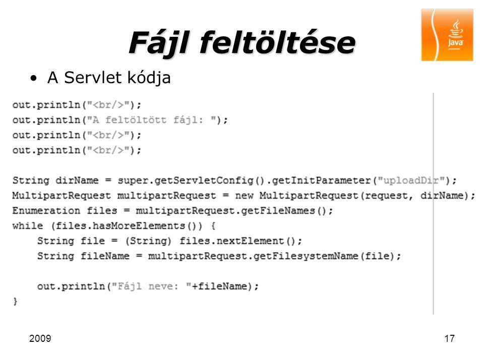 200917 Fájl feltöltése A Servlet kódja