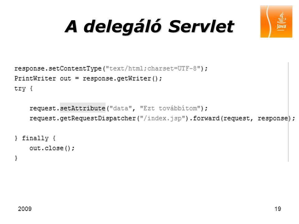 200919 A delegáló Servlet