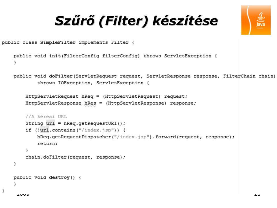 200928 Szűrő (Filter) készítése